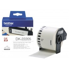 brother DK-22205 Endlos-Etiketten Papier, 62 mm x 30,48 m, weiß