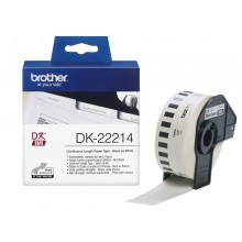 brother DK-22214 Endlos-Etiketten Papier, 12 mm x 30,48 m, weiß