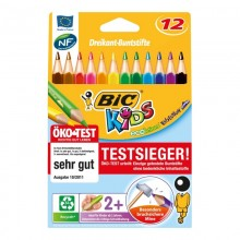BIC KIDS Dreikant-Buntstifte Evolution Triangle, 12 Stück