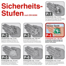 Fellowes Aktenvernichter Microshred 62MC, Partikel 3 x 10 mm