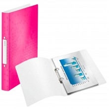 LEITZ Ringbuch WOW, DIN A4, PP, pink, 2 Ringe