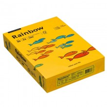 Rainbow Kopierpapier COLOURED PAPER, A4, 80 g/qm, intensivgelb, 500 Blatt